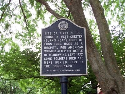 Site of First School House in West Chester Marker image. Click for full size.