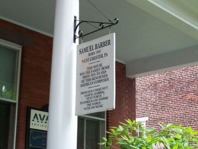 Sign on Samuel Barber House image. Click for full size.