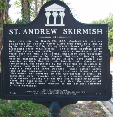 St. Andrew Skirmish Marker image. Click for full size.