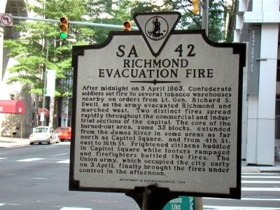 Richmond Evacuation Fire Marker image. Click for full size.