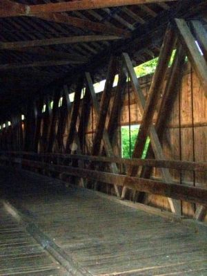 Looking at the interior of Potter's Covered Bridge image. Click for full size.