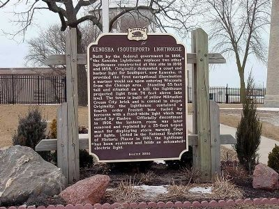 Kenosha (Southport) Lighthouse Marker image. Click for full size.