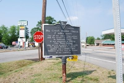 Big Creek Baptist Church Marker image. Click for full size.