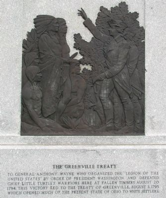 Fallen Timbers Battle Monument (front) image. Click for full size.