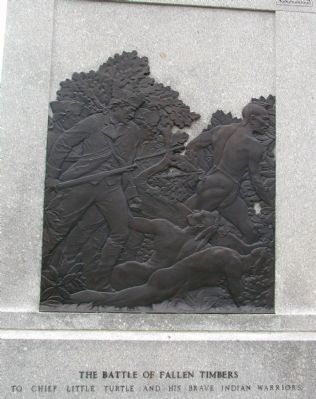 Fallen Timbers Battle Monument (back) image. Click for full size.