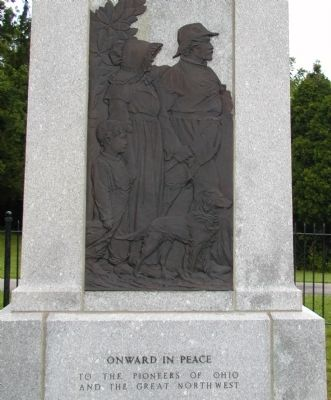 Fallen Timbers Battle Monument (left) image. Click for full size.