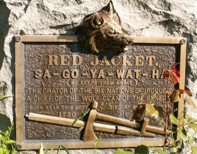 Red Jacket's Birth Site Marker image. Click for full size.