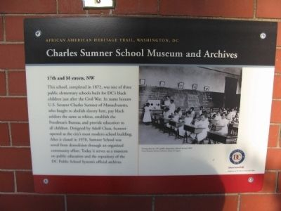 Charles Sumner School Museum and Archives Marker image. Click for full size.