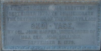 The destruction of the Indian village SKOI-YASE Marker image. Click for full size.