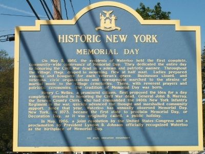 The First Memorial Day Marker image. Click for full size.
