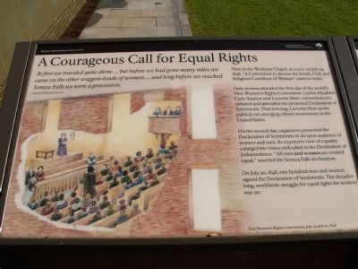 A Courageous Call for Equal Rights Marker image. Click for full size.