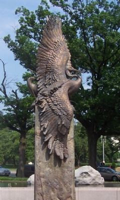 'Crane Monument' - centerpiece of the Memorial's west circle. image. Click for full size.