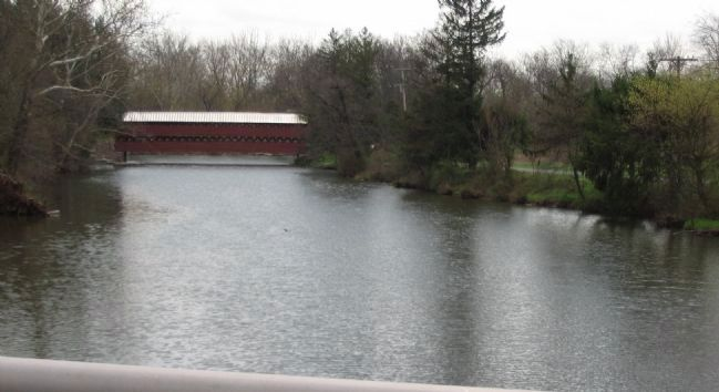 Sach's Covered Bridge Seen from Pumping Station Road image. Click for full size.