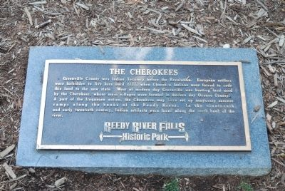 The Cherokees Marker image. Click for full size.