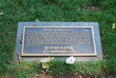 Reedy River Falls Marker image. Click for full size.