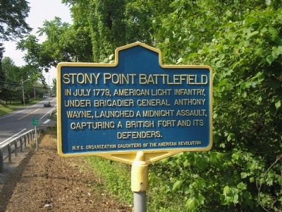 Stony Point Battlefield Marker image. Click for full size.