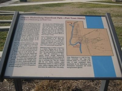 Historic Bladensburg Waterfront Park - Port Town History Marker image. Click for full size.