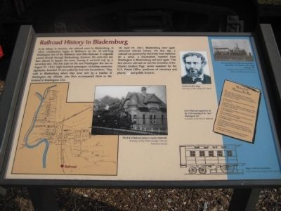 Railroad History in Bladensburg Marker image. Click for full size.