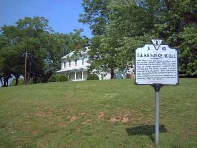 Silas Burke House and Marker image. Click for full size.