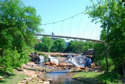 Reedy River Falls and Liberty Bridge image. Click for full size.