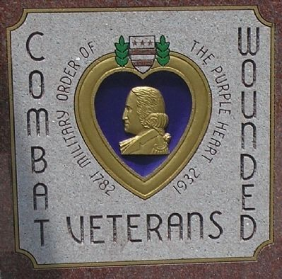 Detail of Purple Heart Decoration on Marker image. Click for full size.