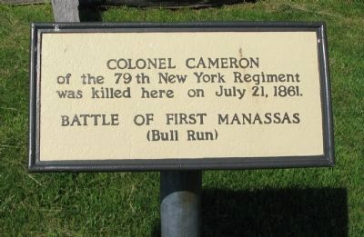 Colonel Cameron Marker image. Click for full size.