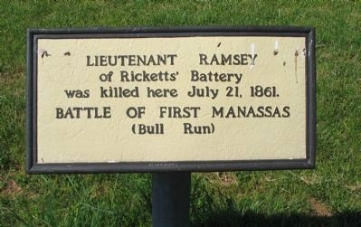 Lieutenant Ramsey Marker image. Click for full size.