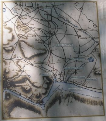 Map of The King's Highway from Marker image. Click for full size.