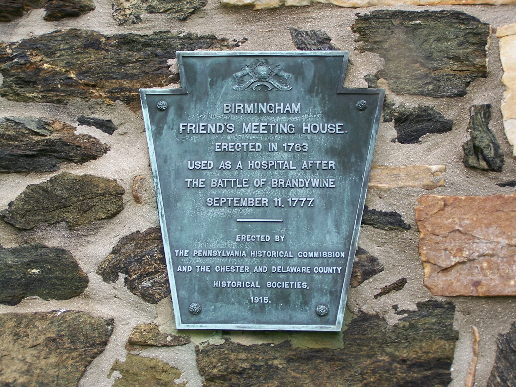 Birmingham Friends Meeting House Marker