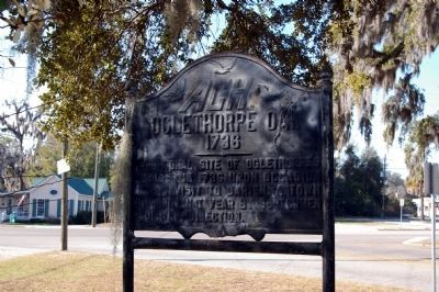 Oglethorpe Oak Marker image. Click for full size.