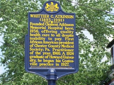Whittier C. Atkinson Marker image. Click for full size.