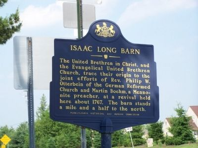 Isaac Long Barn Marker image. Click for full size.