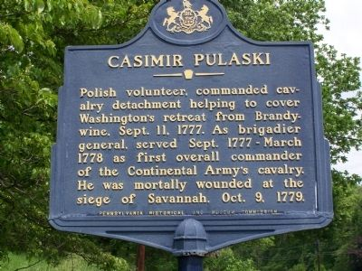 Casimir Pulaski Marker image. Click for full size.