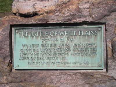 The Battle of White Plains Marker image. Click for full size.