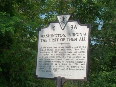 Washington, Virginia, Marker image. Click for full size.