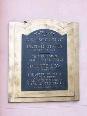 Birthplace of Girl Scouting Marker image. Click for full size.