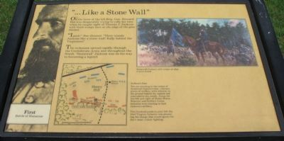 """...Like a Stone Wall"" Marker image. Click for full size."