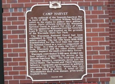 Camp Harvey Marker image. Click for full size.
