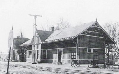 Zionsville Railroad Station. image. Click for full size.
