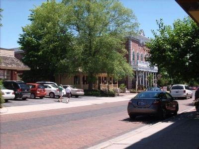 Downtown Zionsville. image. Click for full size.
