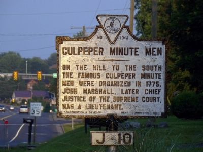 Culpeper Minute Men Marker image. Click for full size.