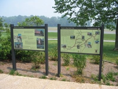 Markers at the Visitor Center image. Click for full size.
