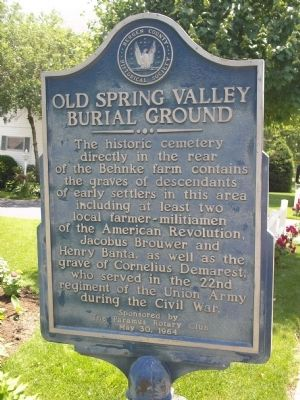 Old Spring Valley Burial Ground Marker image. Click for full size.