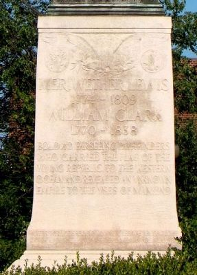 Meriwether Lewis and William Clark Marker image. Click for full size.