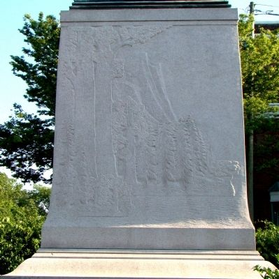 Lewis and Clark Monument Base, North Face image. Click for full size.