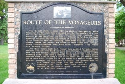 Route of the Voyageurs Marker image. Click for full size.