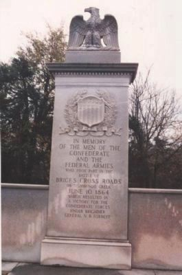 Memorial: Battle of Brice's Cross Roads or Tishimingo Creek. image. Click for full size.