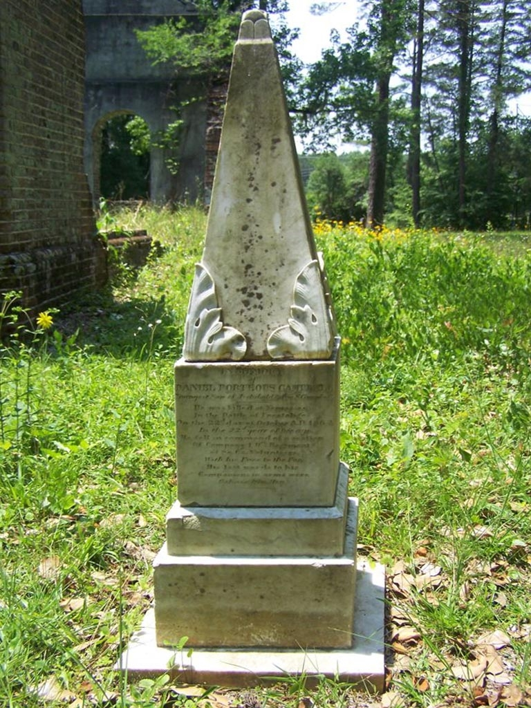 Notable Grave at the Ruins of Pon Pon Chapel of Ease