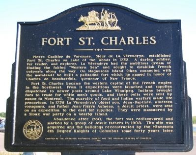 Fort St. Charles Marker image. Click for full size.