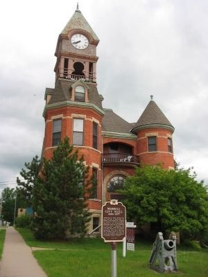 Merrill City Hall and Marker image. Click for full size.